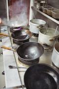Various utensil in kitchen Stock Photos