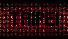 Taipei text on hex code illustration Stock Illustration