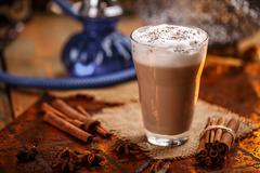 Hot chai latte Stock Photos