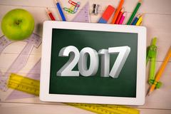 Composite image of illustration of 3D new year number Stock Photos