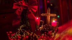 Christian cross christmas xmas Stock Footage
