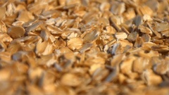 Oatmeal. Vertical pan. Close-up. Stock Footage