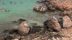 Clear Water of Cleopatra's Beach on Sedir Island Stock Footage