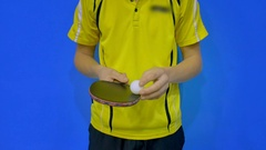 The Ability to Play Table Tennis Stock Footage