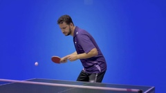 The Game of Table Tennis Stock Footage
