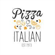 Many Ingredients Premium Quality Italian Pizza Fast Food Street Cafe Menu Piirros