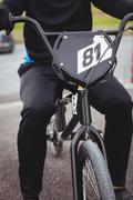 Cyclist sitting on BMX bike Kuvituskuvat
