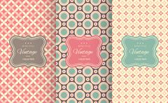 Charming different vector seamless patterns Stock Illustration