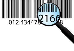 Bar-code on white Stock Illustration