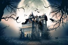Haunted House Stock Illustration