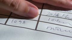 Names on registry register name Stock Footage