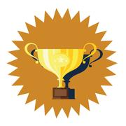 Winner golden cup flat design vector Stock Illustration