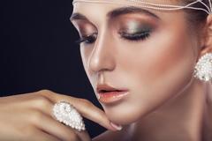 White pearls Stock Photos