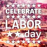 Poster of celebrate labor day text Stock Illustration