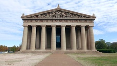 Parthenon in Nashville Tennessee Stock Footage