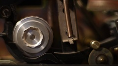 Vintage super 8 movie projector detail Stock Footage
