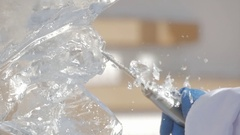 Ice carving Stock Footage