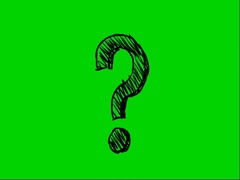 Question mark-green-screen-02 Stock Footage