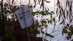 Ticks warning sign Stock Footage