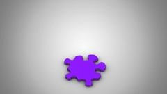 Puzzles are Falling Down Stock Footage