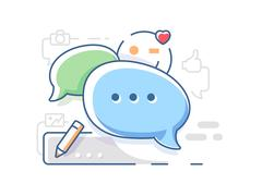 Connect and chat chatting Stock Illustration