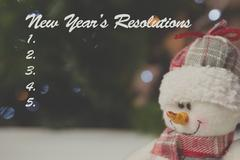 Composite image of new years resolution list Stock Illustration