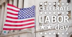 Composite image of poster of celebrate labor day text Stock Illustration