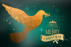 Composite image of christmas message Stock Photos