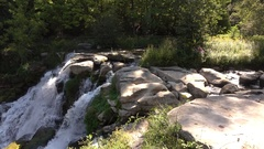 Chittenango Falls panning from the top. Stock Footage