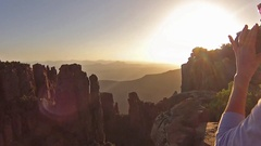 Valley of Desolation South Africa Stock Footage