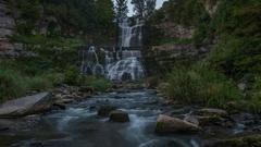 Chittenango Falls Time Lapse Stock Footage