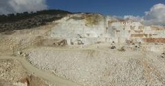 Marble Mine field 4K Aerial Footage Stock Footage