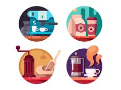 Hot invigorating coffee Stock Illustration