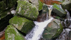 Slow motion shot of mountain brook Stock Footage