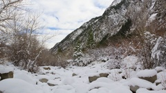 Snowy Winter Canyon time lapse Stock Footage