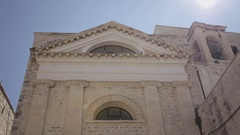 Giovinazzo piazza Benedettine church front Stock Footage