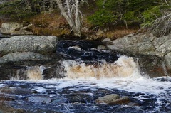 Close Up of River With Small Waterfalls, and Moving Water Stock Footage