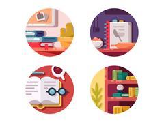 Books for education Stock Illustration