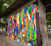 Multicoloured Paper Cranes Kuvituskuvat