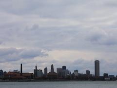 4K UltraHD Timelapse of the Buffalo, New York skyline Stock Footage