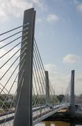 Modern bridge spanning a river in Lobito, Angola Stock Photos