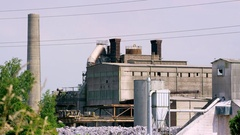 Crumbling production plant - cement plant Stock Footage