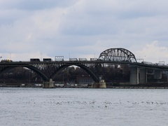 4K UltraHD Real time view of the Peace Bridge Stock Footage