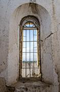 Tall window of Portuguese fort in Lobito, Angola Stock Photos