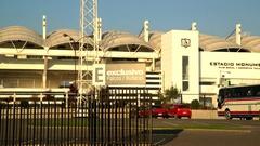 Stadium of Colo-Colo futball club in Santiago de Chile Stock Footage