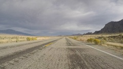 Driving Time Lapse on Highway 50 in Eastern Nevada Stock Footage