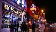 Nashville Tootsies Broadway Street Scene Stock Footage