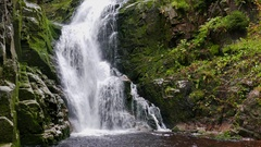 Kamienczyk Waterfall at fall. Karkonosze National Park, UNESCO biosphere reserve Stock Footage