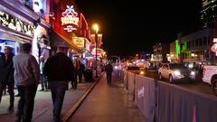 Nashville Broadway Street Scene Stock Footage