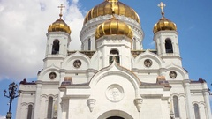 The Cathedral of Christ the Savior. Stock Footage